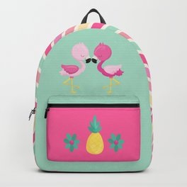 Flamingoes love pineapple Backpack