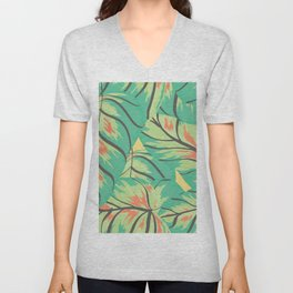 Candy Colored Monstera Unisex V-Neck