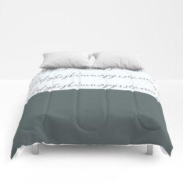 Alphabet-Grey Comforters