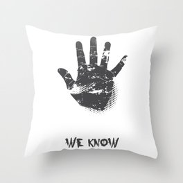 We Know Grungy Palm Throw Pillow