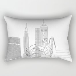NYC lines Rectangular Pillow