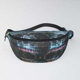 Analogue Glitch Skull Array Fanny Pack