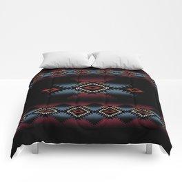 aztec in black number 5 Comforters