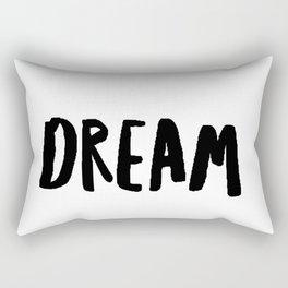 Dream in Black Rectangular Pillow