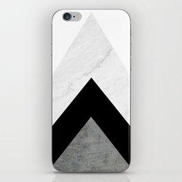 Arrows Monochrome Collage iPhone Skin