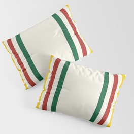 Rustic Lodge Stripes Black Yellow Red Green Pillow Sham