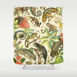 Chameleon Party Shower Curtain