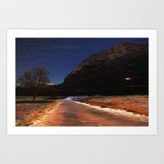 Monte via Art Print