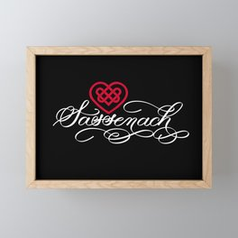 Sassenach with Red Celtic Heart (Dark) Framed Mini Art Print