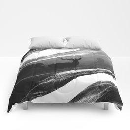 Oh Deer Black Comforters