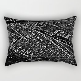 Black & White By Numbers Rectangular Pillow