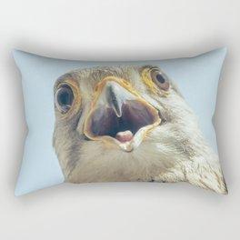 Common Kestrel Portrait Beak Wide Open (Falco tinnunculus) European kestrel. Rectangular Pillow