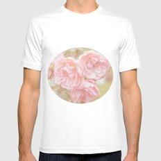 Rose Garden White MEDIUM Mens Fitted Tee