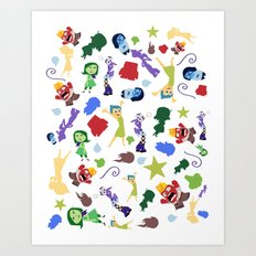 character pattern inside out Art Print