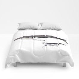 North Atlantic Humpback whale with calf Comforters