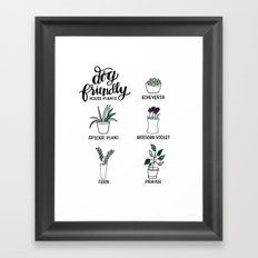 Dog Friendly House Plants Framed Art Print