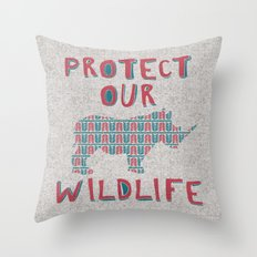 Protect Our Wildlife 23 Throw Pillow