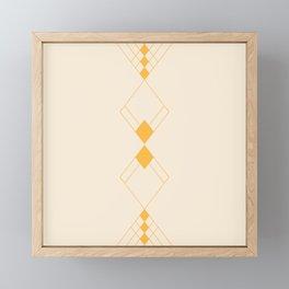 Minimal Geometry - Golden Framed Mini Art Print