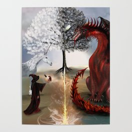The Owl,Wizard,Unicorn and the Dragon Poster
