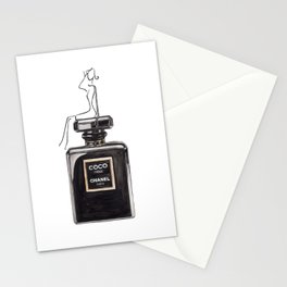 Classic Black Parfum with girl Stationery Cards