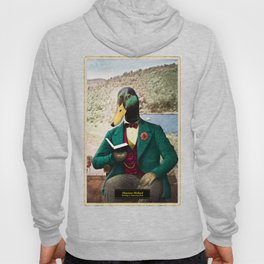 Monsieur Mallard Reading an Improving Book Hoody