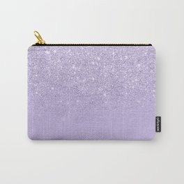 Stylish purple lavender glitter ombre color block Carry-All Pouch