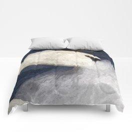 The Shy Swan Art Comforters