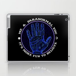 Me & Paranormal You - James Roper Design - Palmistry (white lettering) Laptop & iPad Skin
