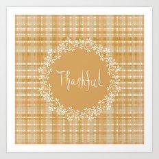 Autumn Weave Thankful Art Print