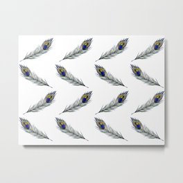The Peacock's Feather Pattern Metal Print