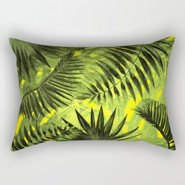 Tropical Leaves Aloha Jungle Garden Rectangular Pillow