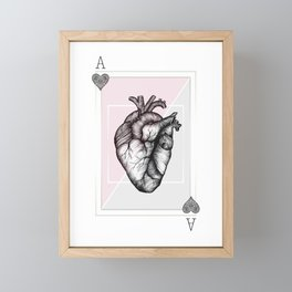 Ace of Hearts Framed Mini Art Print