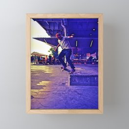 Colorful Skater Framed Mini Art Print