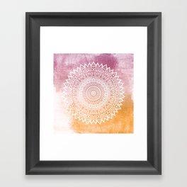 SUMMER LEAVES MANDALA Framed Art Print