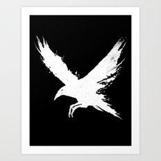 The Raven (Black Version) Art Print
