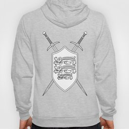 Crossed Swords and Shield Outline Hoody
