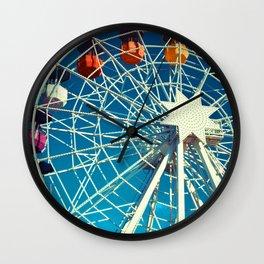 Happy Round N' Round #society6 Wall Clock