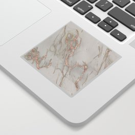 Marble Rose Gold Blush Pink Metallic by Nature Magick Sticker