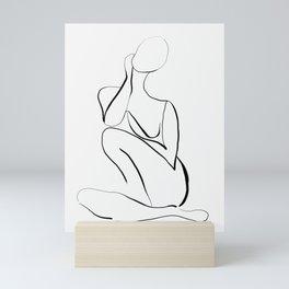 Female Figure Line Art Mini Art Print