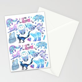 Celestial Creatures Stationery Cards