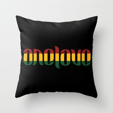 One Love Ambigram  Throw Pillow