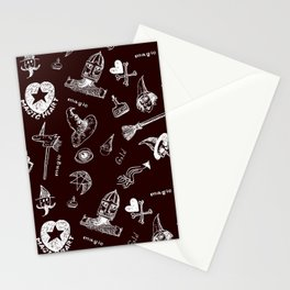 Magic symbols Stationery Cards