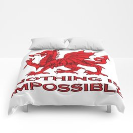 Nothing Is Impossible Red Dragon Comforters