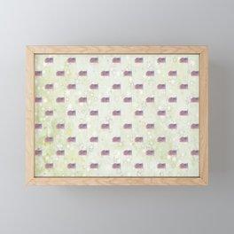 American Flag Aglow, stars in the dawn's early light, pattern Framed Mini Art Print