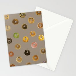 breakfast bagels Stationery Cards