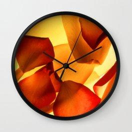 Thrown Petals Wall Clock