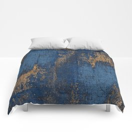 NAVY BLUE AND GOLD PATTERN Comforters
