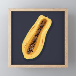 Papaya fruit Framed Mini Art Print