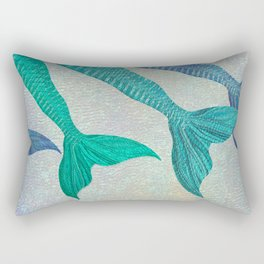 Glistening Mermaid Tails Rectangular Pillow