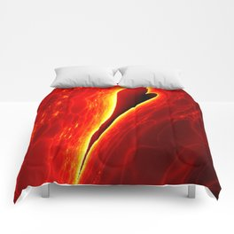 burning Heart Comforters
